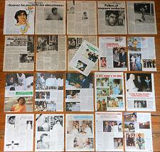 FELIPE GONZALEZ coleccion de prensa 1970s/90s PSOE revista fotos politica