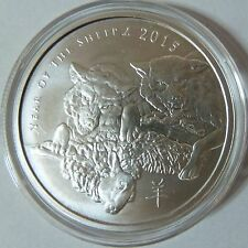 2015 Silver Shield Collection Year of the Sheep 1oz .999 Silver Bullion Round