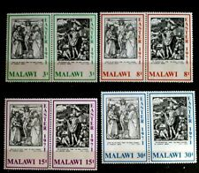 1971 Malawi Full Set Of 8 in 4 Pairs Stamps - Easter - MNH