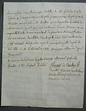 Letter signed Thévenin, Marquis Tanlay, 1st President of the Court of Monnaies