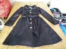 Elegant SEDA Navy Blue Cotton Stylish Belted Classic Mac Trench COAT Jacket, M