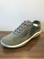Men's Prada Americas Cup Grey Trainers Brand New Size UK 8 (Fits UK 9)