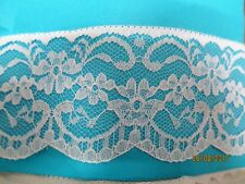 4mtrs of 5.5cm Flat White Lace  design 1 - produced in Nottingham