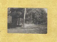 IA Smithland rare 1907 RPPC real photo postcard STREET SCENE HOME & FENCE IOWA