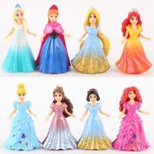 8PCS DIY Changed Dress Disney Princess Magiclip Action Figures Doll Kid Girl Toy