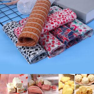 50Pcs Food Wrapping Wax Paper Hambur Sandwich Bread Candy Wrap Paper DisposabJC