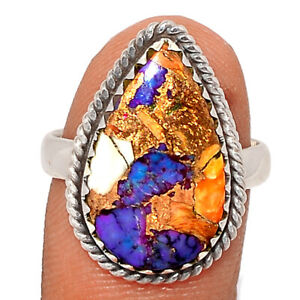 New Oyster Purple Turquoise 925 Sterling Silver Ring Jewelry s.7 BR86805