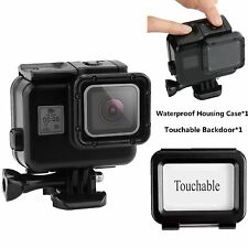 40M Waterproof Housing Case+Touch Screen Backdoor Cover For Gopro Hero 5 Black 6