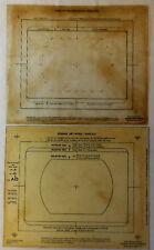 circa 1960 KODAK ART-WORK TEMPLATE & INSTRUCTIONS Plastic Sheets