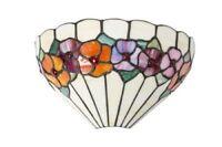 Applique in stile Tiffany colorato con fiori
