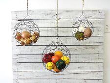 Hanging Wire Basket Set, Fruit Basket, Handmade, Farmhouse, By CharestStudios