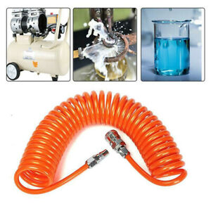 6M PU Recoil Spring End Hose Line Pipe Tube For Air Pneumatic Compressor FY