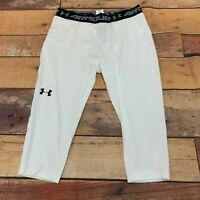 Under Armour Mens Tights Compression Size 2XL XXL White New NWT B125