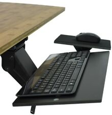 KT1 Adjustable Tilt Swivel Sliding Ergonomic Under Desk Computer Keyboard Tray