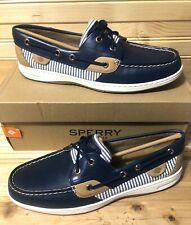 Sperry Topsider Women's 10 Bluefish Striped Navy Boat Shoes Memory Foam $90 Msrp