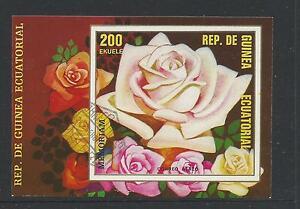 Roses  Mini Sheet  1 stamp  Used  Full Gum on Rear Value Here