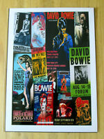 DAVID BOWIE : CONCERT POSTER  COLLAGE :  A4 GLOSSY REPO POSTER