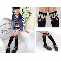 Kids Toddlers Girls Soft School Knee High Cotton Tights Socks Stockings Cute UK