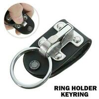 Stainless Steel Quick Release Detachable Key Chain H Belt Ring Keyring CL I1U8