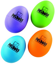 Nino Percussion Plastic Egg Shaker Set, 4 Pieces - For Classroom Music or at