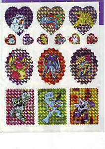 A4 Bogen Manga-Sticker mit 15 verschiedenen Stickern