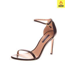 RRP €445 STUART WEITZMAN Leather Ankle Strap Sandals Size 39.5 UK 6.5 US 9 Heel