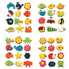 12 PCS Baby Cute Fridge Magnet Wooden Cartoon Animal Child Educational Toys Gift