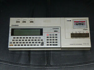 VINTAGE CASIO PB-700 PORTABLE COMPUTER WITH CASSETTE INTERFACE FA-4