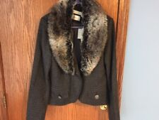 Costa Blanca Ladies Wool Short Blazer with Faux Fur detachable collar