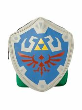 """The Legend Of Zelda Removable Hylian Shield School Book Bag 17"""" Backpack NWT!"""