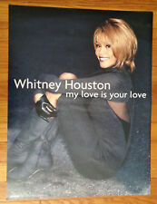 Whitney Houston My Love Is Your Love 17x22 record store promo poster Arista