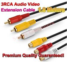 Premium Cooper Core 3RCA Audio Video AV TV DVD Extension Cable M/F Cord AU Stock