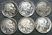 1913-D 1914 1916 1920 1923 1924-D Buffalo Nickel Lot --- Nice Lot --- #F969