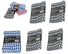 6x 12x Pack 100% Egyptian Cotton Jumbo Terry Tea Towels Kitchen Mini Check