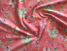 Fantastic Fairies Pink Jersey Fabric *cotton mix stretch* Baby Children Nursery