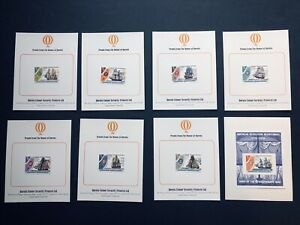 Grenadines 1976 174-181 - US Bicentennial, Ships PROOFS plus IMPERF S/S MNH