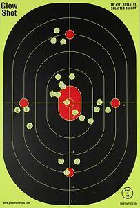 """10 Pack 18"""" X 12"""" Reactive Splatter Gun Rifle Pistol Shooting Targets Glow Shot"""