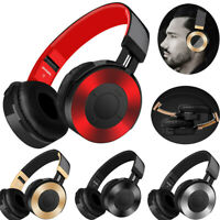Wireless Bluetooth Headphones Bass Stereo Earphones Headset With Mic TF Card FM