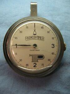 Vintage Swiss PARKER-TIMER Pocket Clip-on Car Parking Meter Timer
