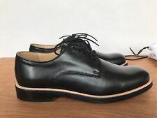Mens derby shoes black leather lace up size UK10  EU 44 Carven