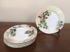 Antique Rosenthal RC TILLY Bavaria Hand Painted Dessert Plates ~ Set of 5