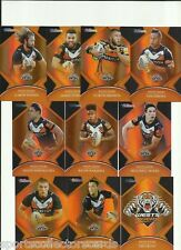 2016 NRL TRADERS WETS TIGERS PARALLEL TEAM SET 10 CARDS