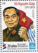 Vo Nguyên Giàp Viet Nam leader flags Sc #2453 URUGUAY MNH stamp military uniform