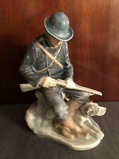 Royal Copenhagen Figurine # 1087 Hunter Sitting With His Dog Reloading