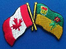 Canada / Saskatchewan Flag Patch Embroidered Iron On Applique