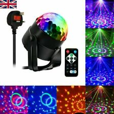 More details for led magic ball stage light club rgb rotating disco party dj decor w/ remote uk
