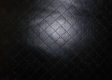 Diamond Square Quilted look Faux Leather Leatherette Upholstery Dress Fabric