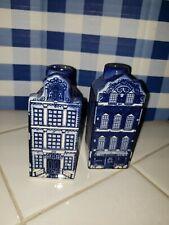 Delft Blue & White Canal Houses Salt & Pepper Shakers