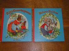 Vintage Lot of 2 Nicely Illustrated Willy Schermele French Hardcover Books