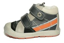Babybotte Boys Atipik Leather Dark Grey Combi Boots UK 9 EU 27 US 9.5